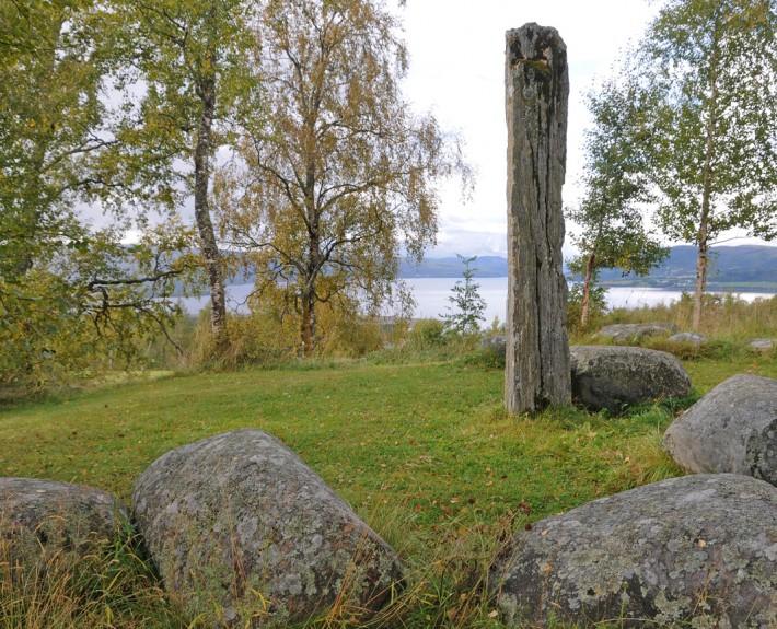 Tinghaugen, i Hårstadgrenda i Selbu. I løpet av sagatiden hadde Selbu sitt eget bygdeting, datidens lokale selvstyre, strategisk plassert med utsikt utover Selbusjøen. Foto: Jostein Sandvik.